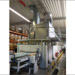 Brueckner extended belt dryer with directly mounted heat-recovery system
