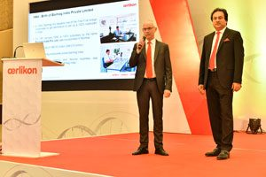 Jürgen Vogel and Debabrata Ghosh opened the technology symposium in Daman, attended by around 450 people.