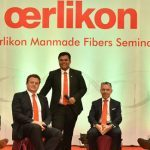 (L-R) Michael Roellke, Volker Schmid, Jochen Adler and André Wissenberg at the podium discussion together with Sudipto Mandal from the Indian subsidiary.