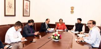 The Union Minister for Finance and Corporate Affairs, Smt. Nirmala Sitharaman announcing the several relief measures across multiple sectors in view of COVID-19 outbreak, during a press conference through video conference, in New Delhi on March 24, 2020.
